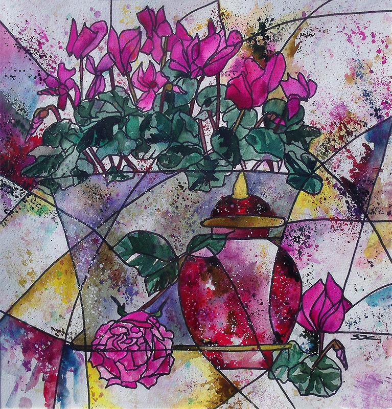 watercolour  62 x 62
