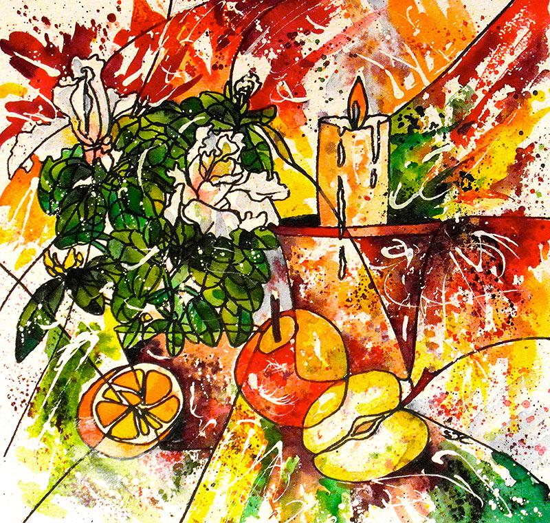 watercolour  42 x 42