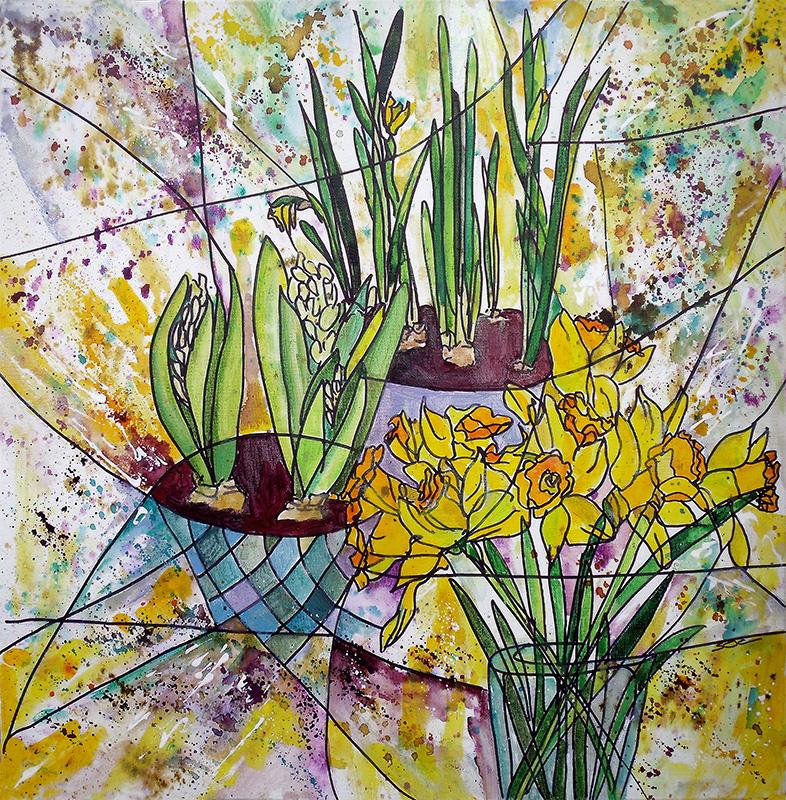 acrylic on canvas  60 x 60